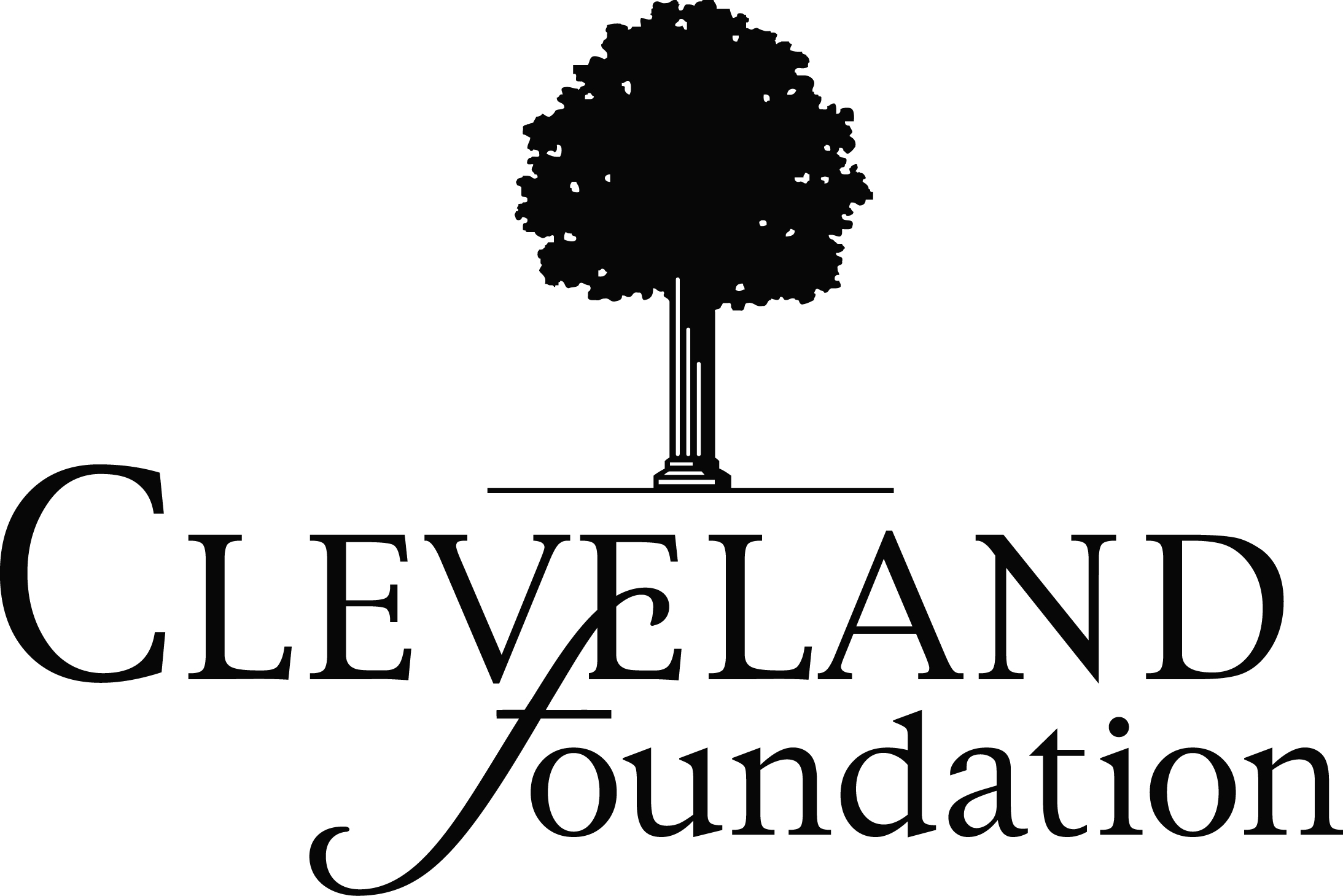 Cleveland foundation logo black
